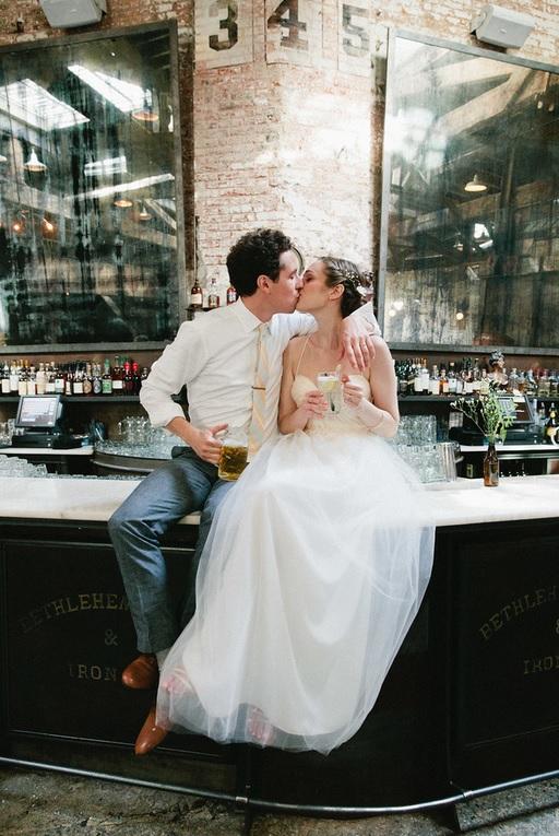 Wedding Couple on bar